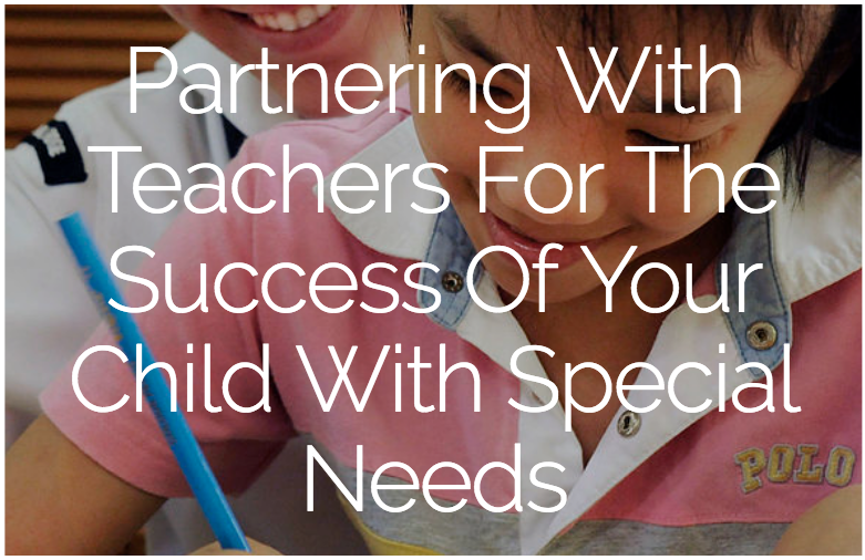 A child with special needs and a teacher